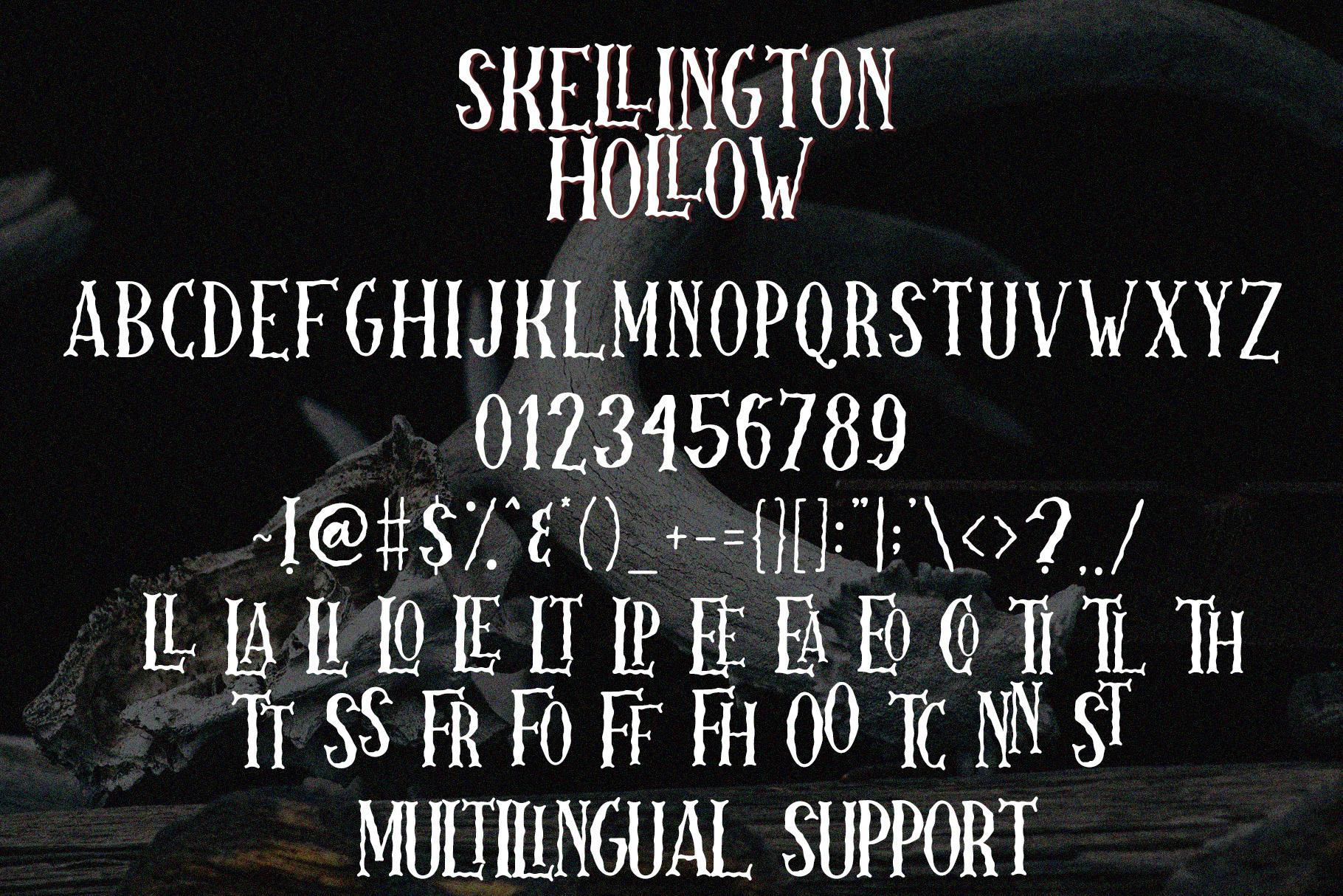 Skellington Hollow - Creepy Font example image 7