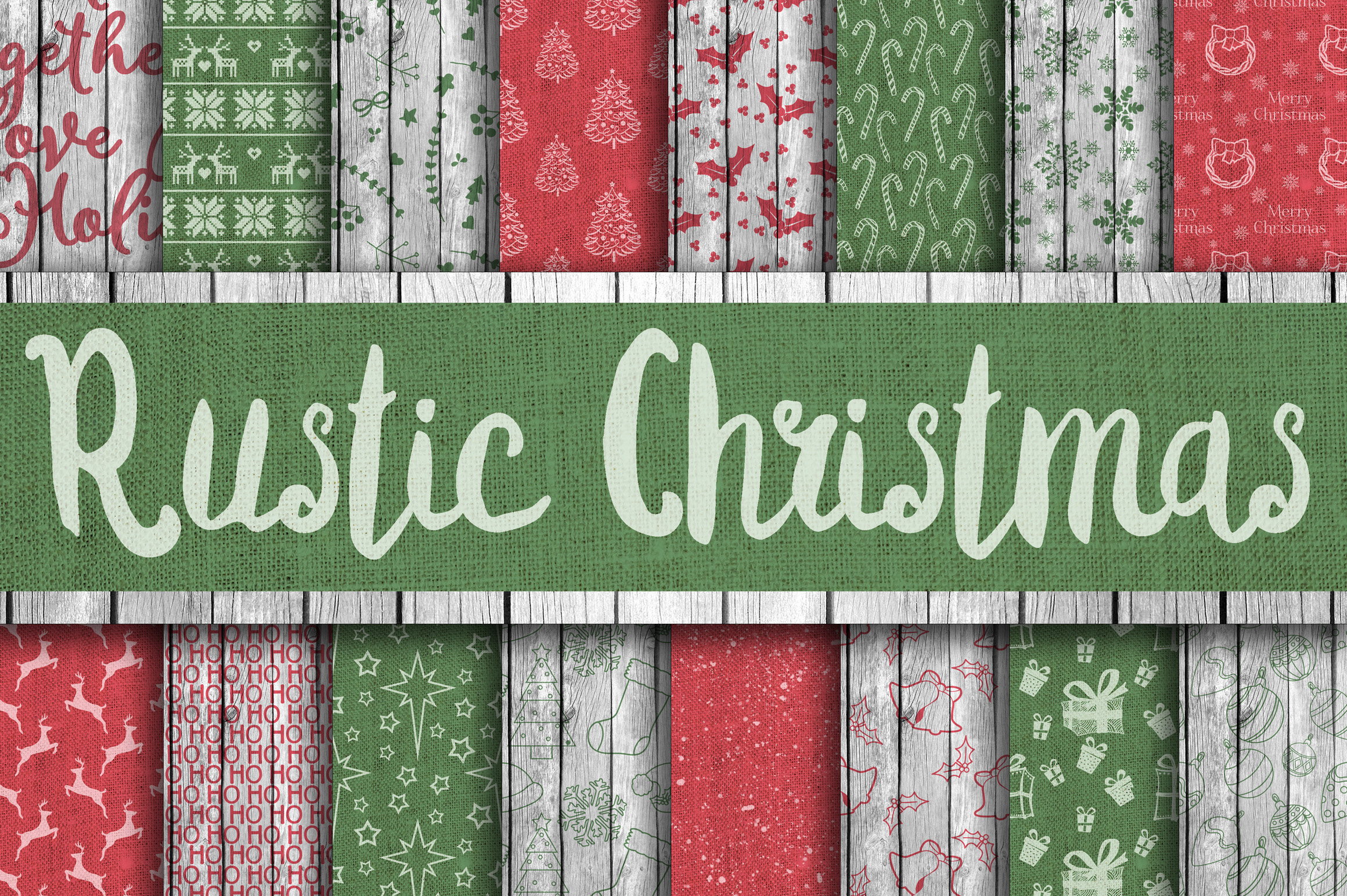 Christmas Bundle - Includes Over 200 Digital Papers example image 14