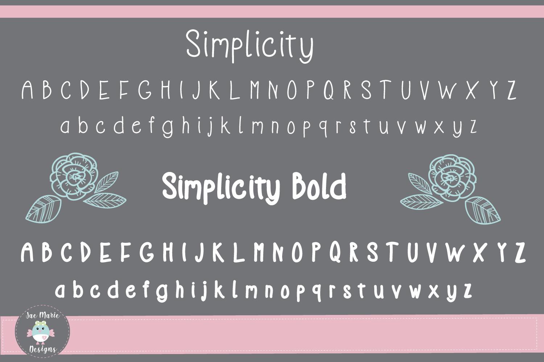 Simplicity an informal display font example image 2