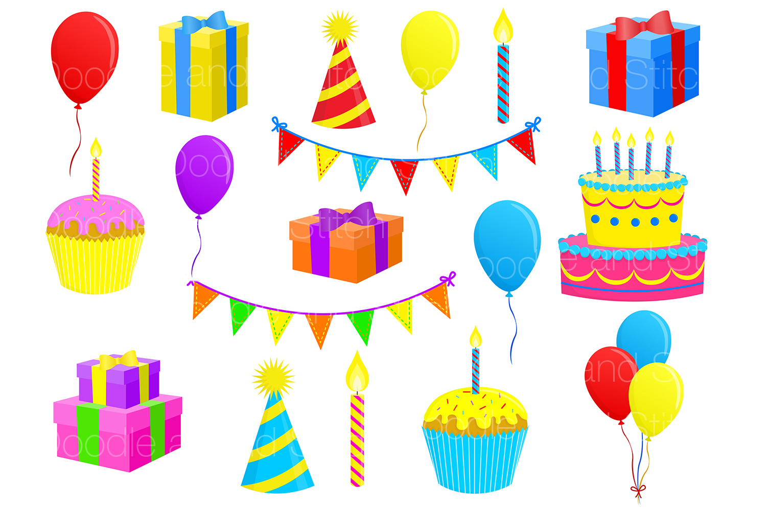 Birthday Party Clipart Illustrations example image 2