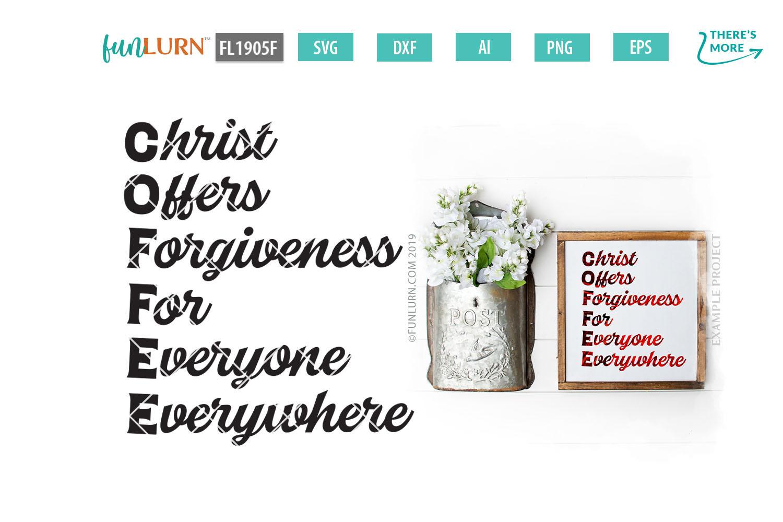 C.O.F.F.E.E. Christ Offers Forgiveness For Everyone SVG example image 1