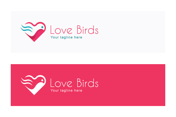 Love Bird - Abstract Creative Stock Logo Template example image 2