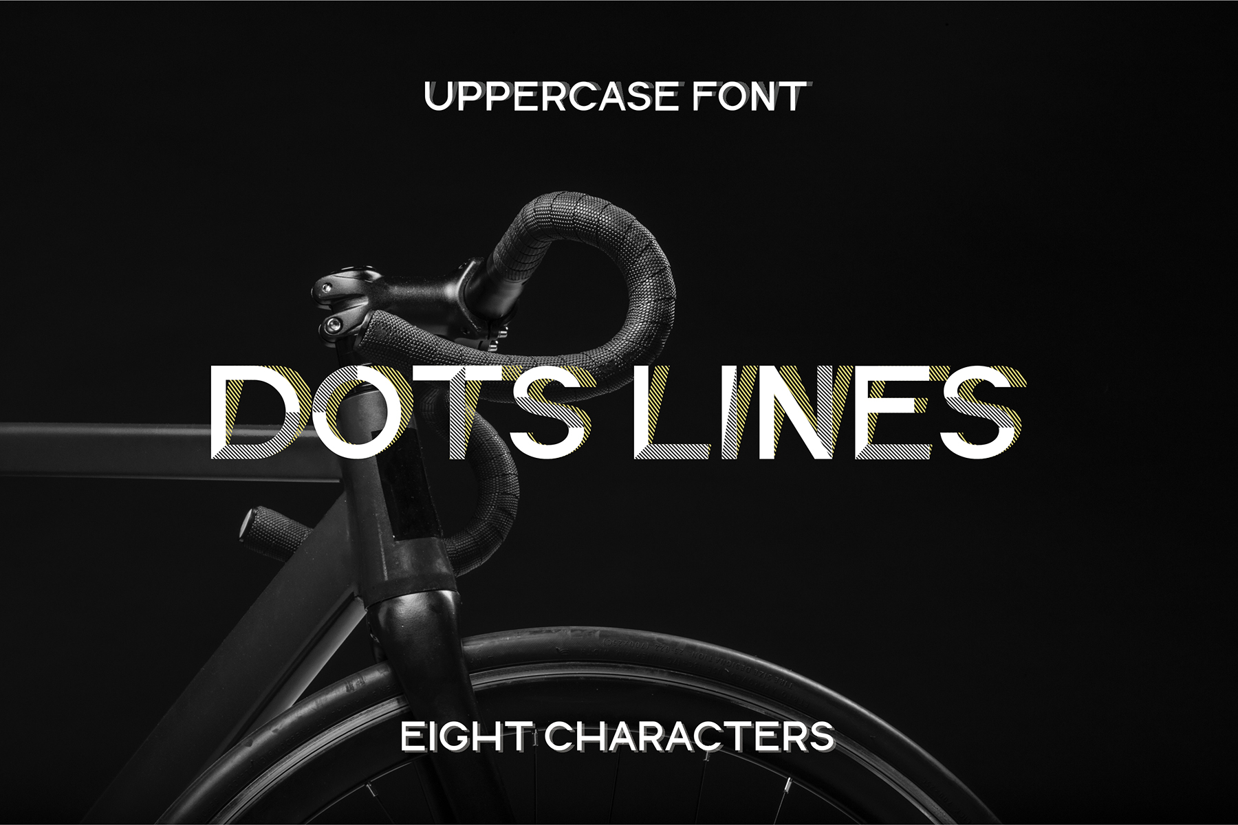 DOTS & LINES uppercase modern font example image 11