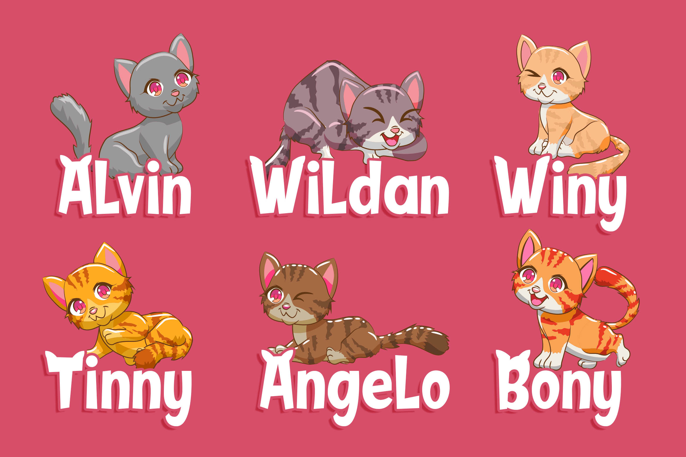 Sweety Cats - Funny Sans Serif example image 3