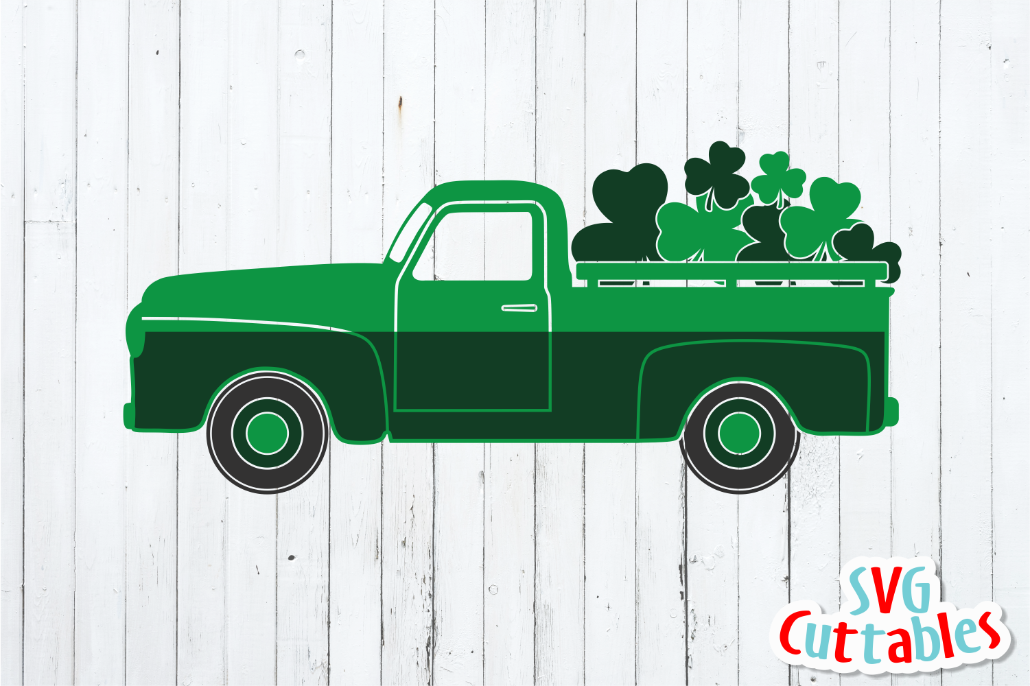 St. Patrick's Day Truck Cut File example image 2