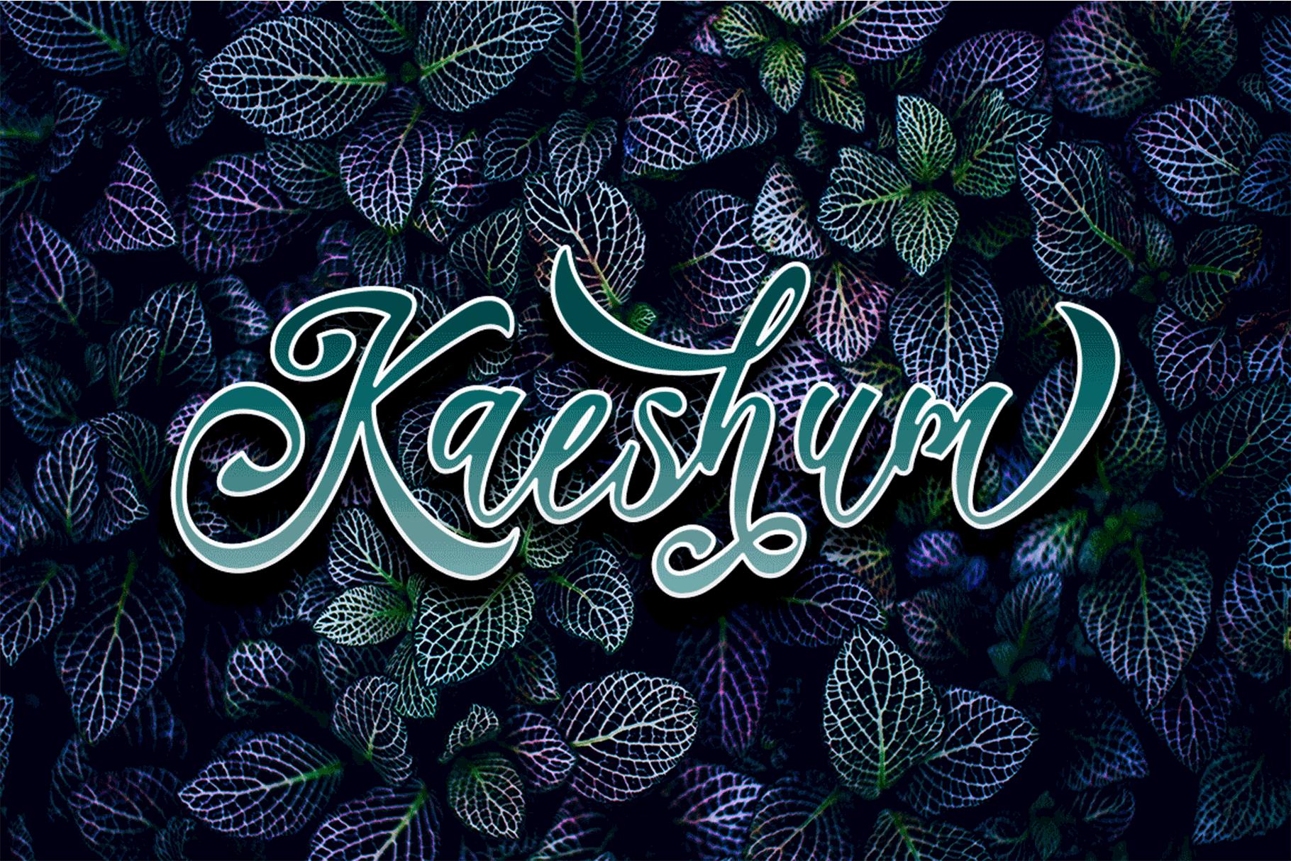 Kaeshum Script - BOLD example image 1