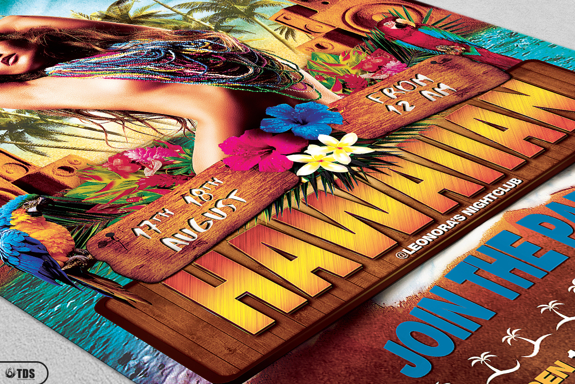 Beach Party Flyer Template V5 example image 5