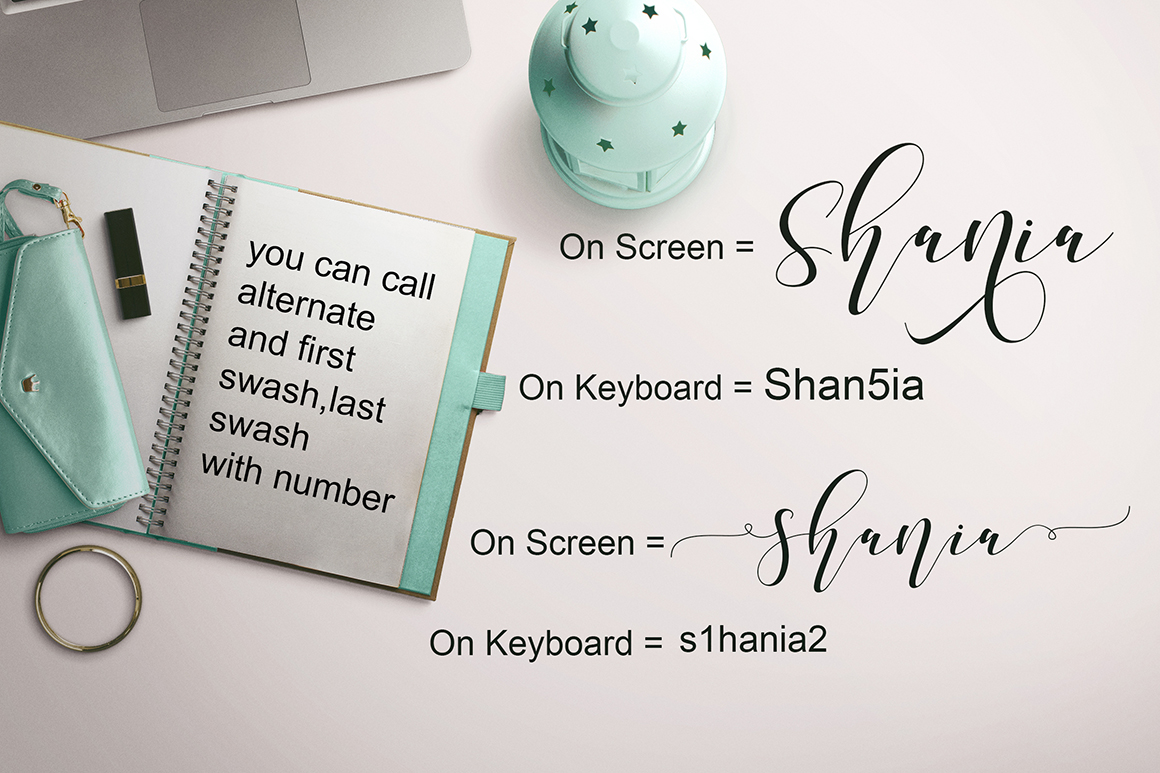 Shania Sweet Calligraphy Modern example image 7