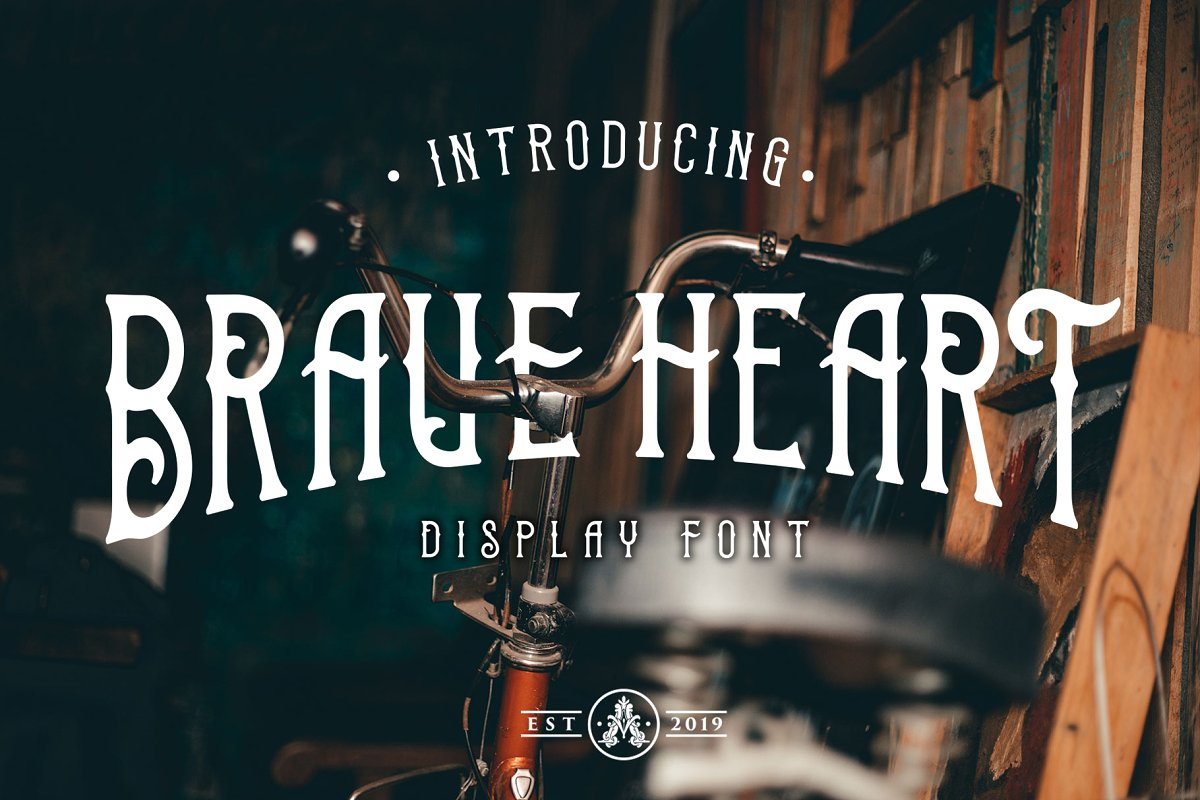 Brave Heart Display Font example image 1
