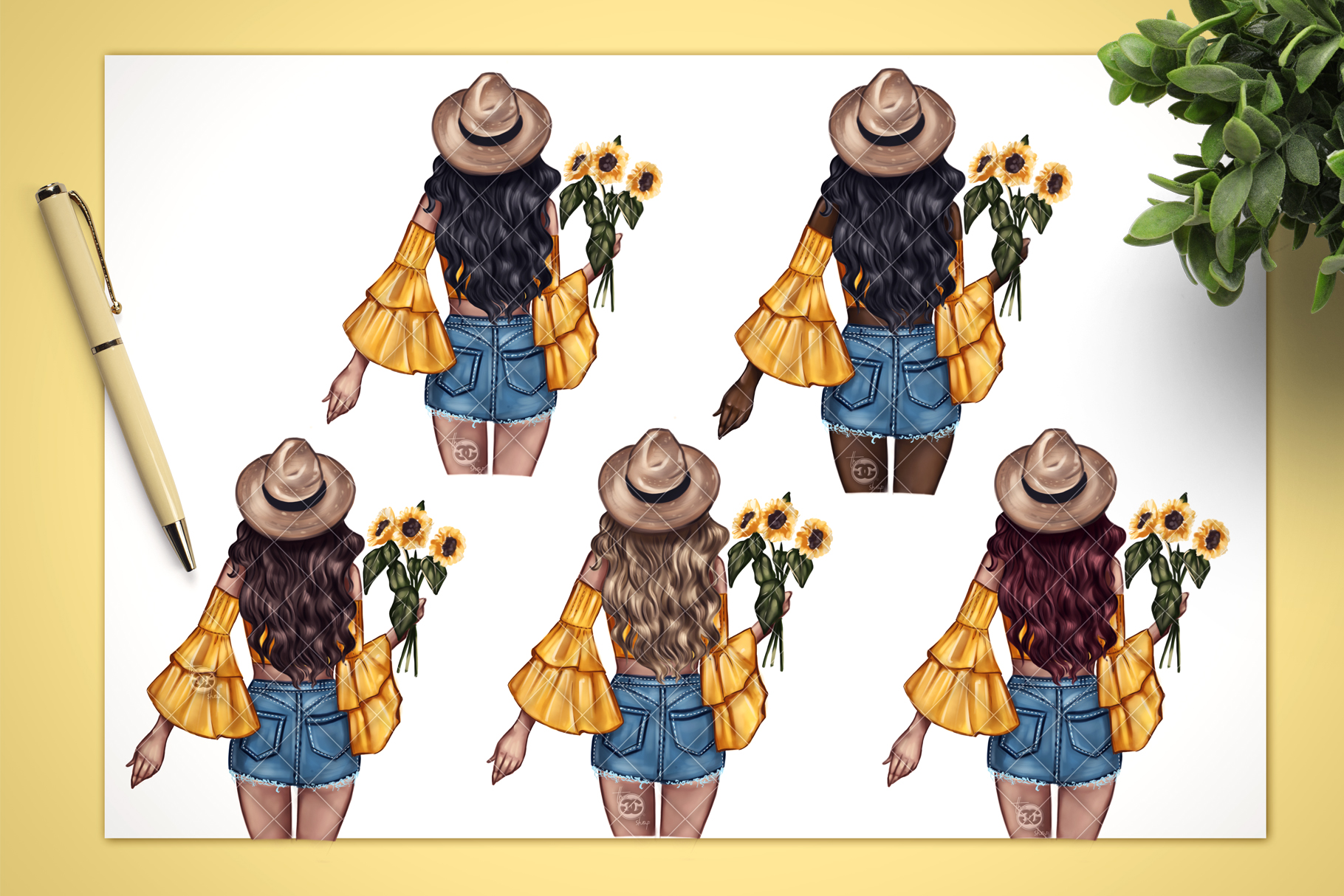 Fashion Clipart // Spring Clipart // Fashion Illustration // example image 2