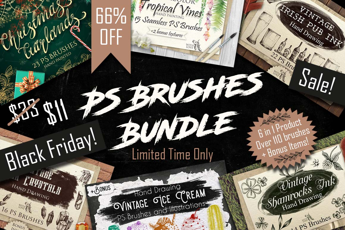 40%OFF! PS Brushes Bundle example image 2