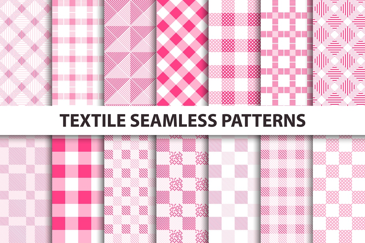 Textile seamless patterns. example image 1