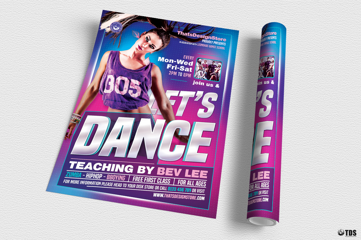 Dance Classes Flyer Template V1 example image 3