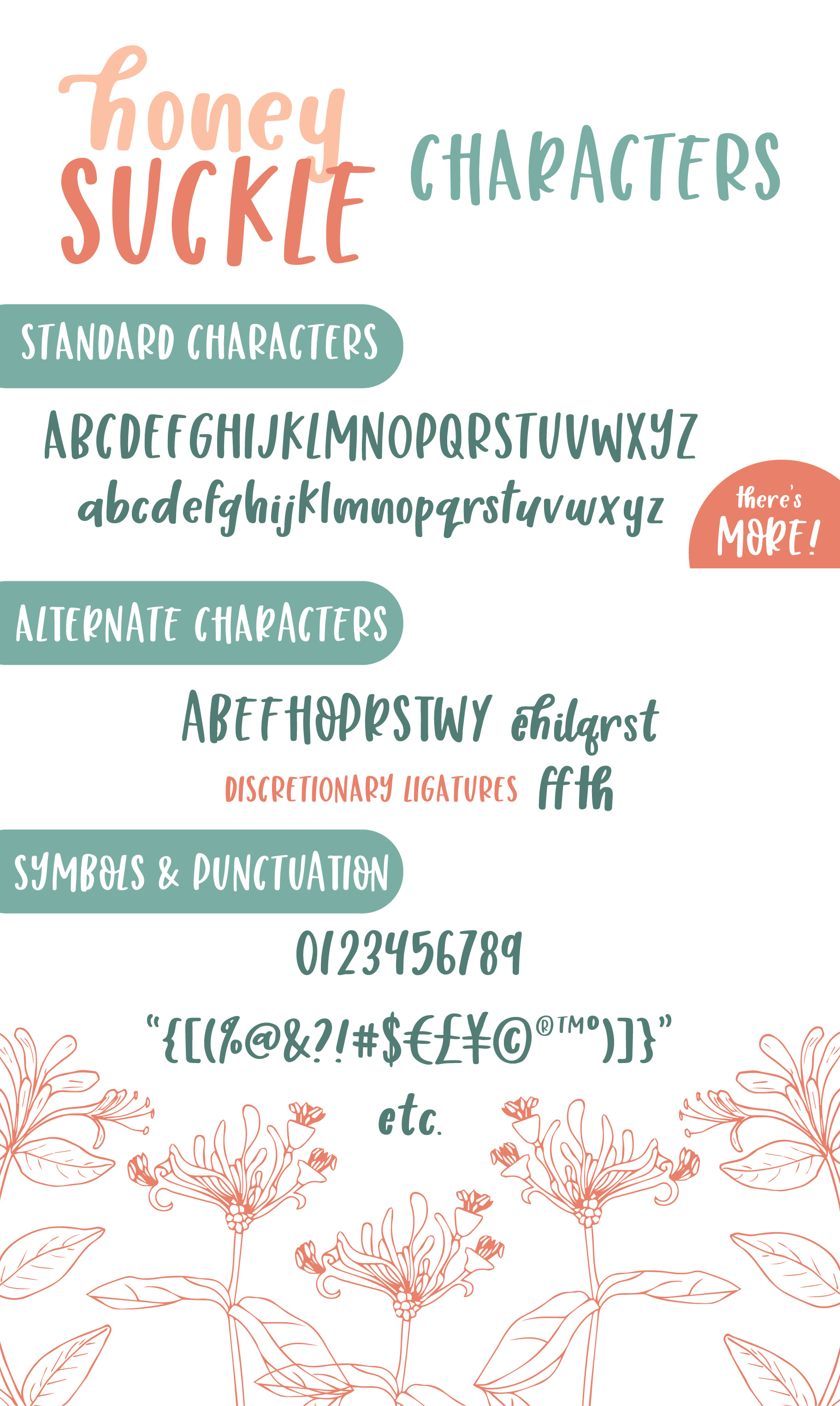 Honey Suckle, A Fresh Hand Lettered Font example image 8