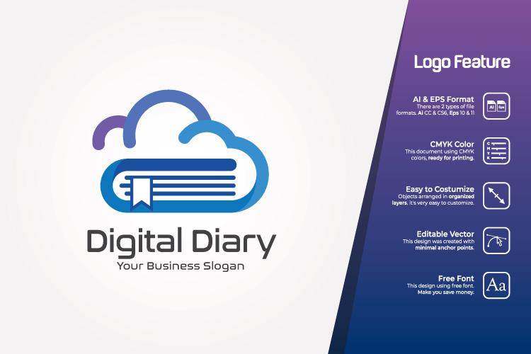 Cloud Book Logo Template example image 1