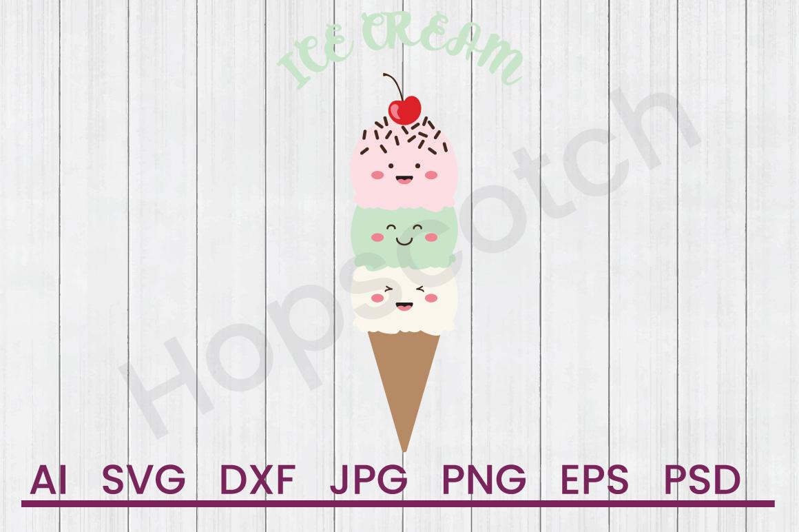 Ice Cream Cone SVG, Ice Cream SVG, DXF File, Cuttatable File example image 1