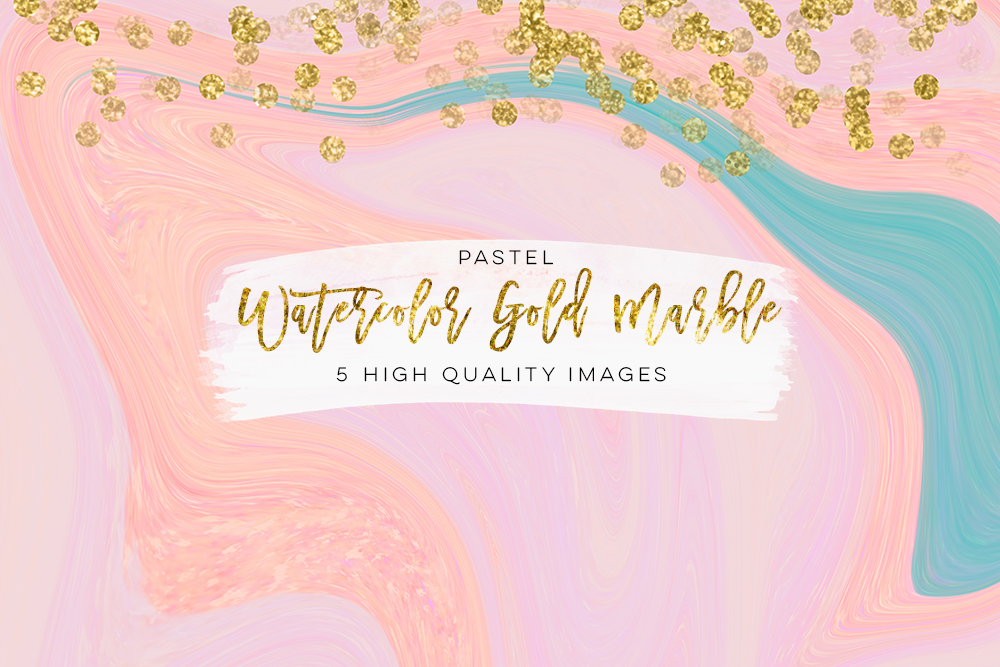 Marble back ground digital paper, watercolor gold marble, marble wall art paper, marble baby blue, marble colorful texture, Rose Gold Pink example image 3