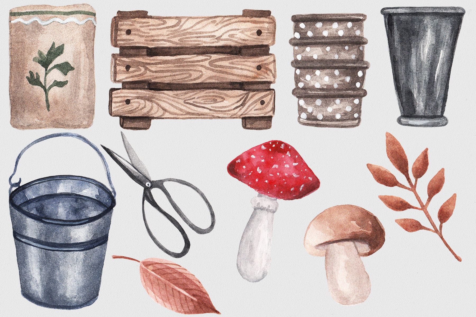 Autumn Garden Watercolor Collection example image 5