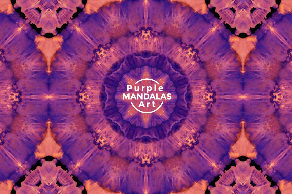 Purple MANDALAS Art example image 9