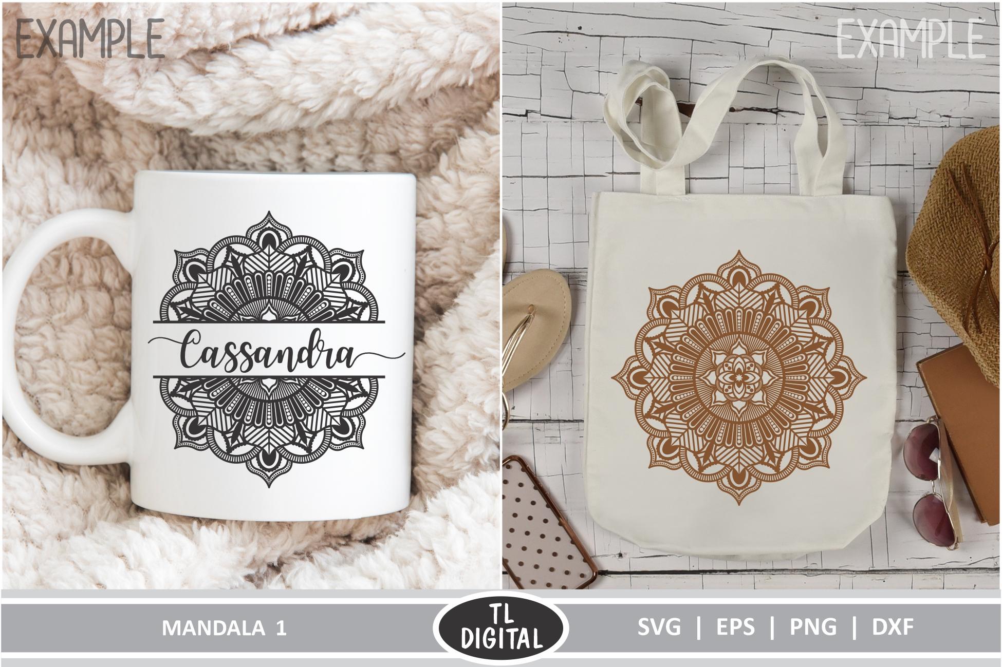 Mandala 1 - Boho Graphic - SVG | EPS | PNG | DXF example image 2