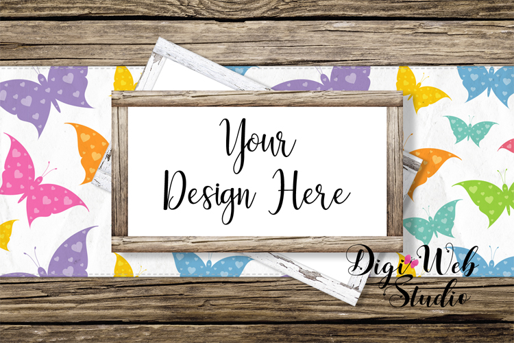 Mockup Bundle - Butterfly Cottage Wood Signs, Pillow & Mug example image 10