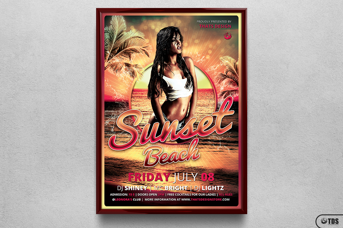 Beach Party Flyer Template V3 example image 6