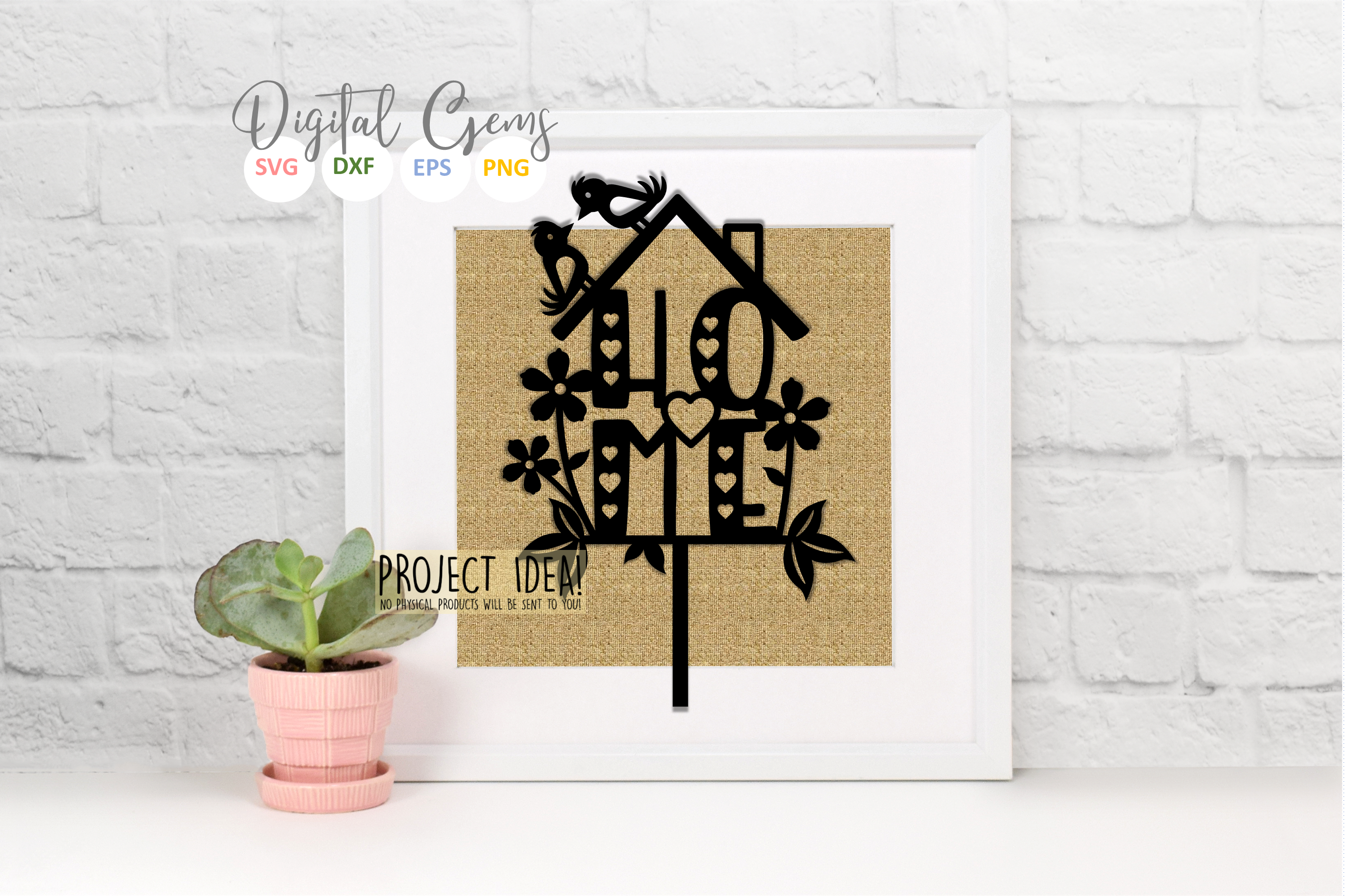 Love, Home, and Hope paper cut designs SVG / DXF / EPS / PNG example image 7