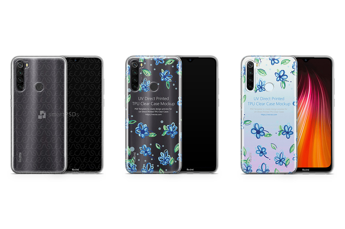 Redmi Note 8 2019 TPU Clear Case Mockup example image 1