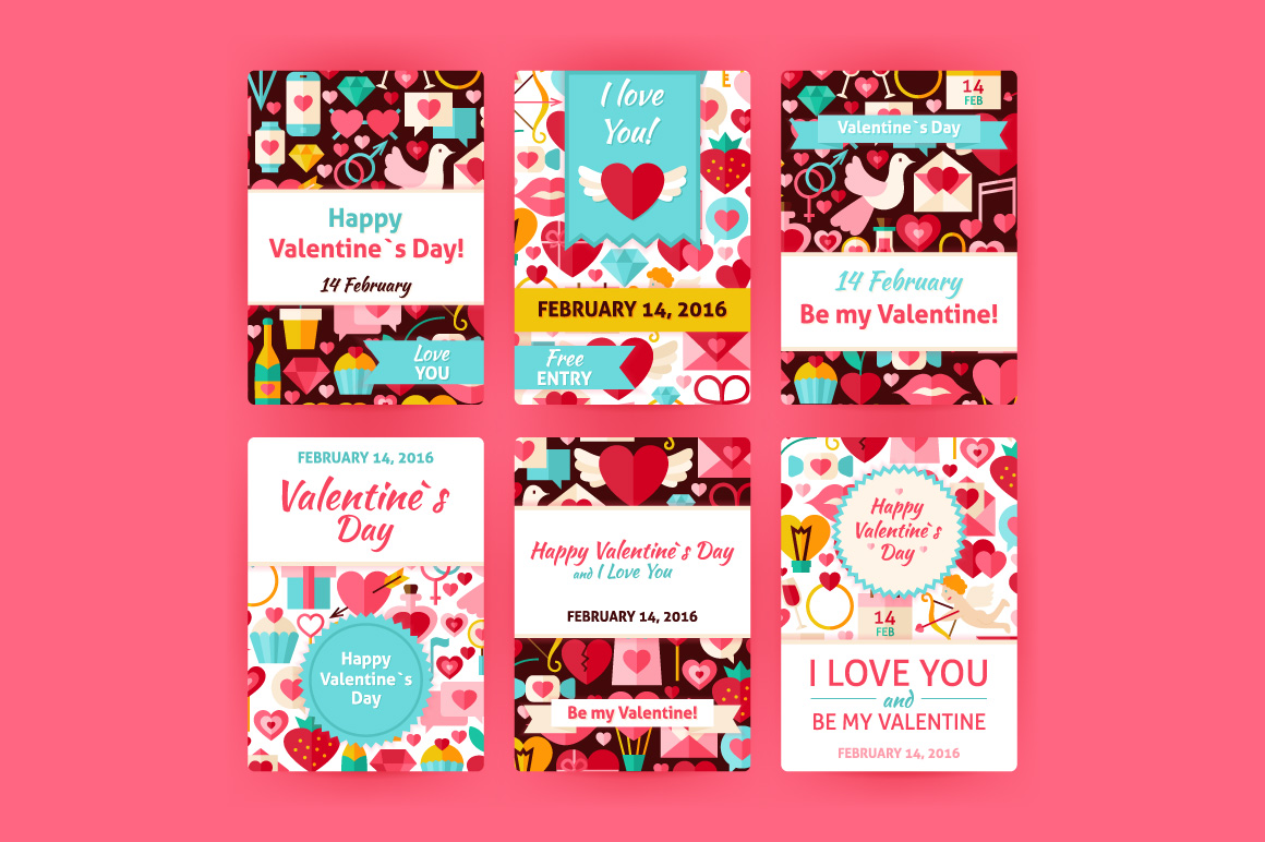 Valentine Day Vertical Invitations example image 2