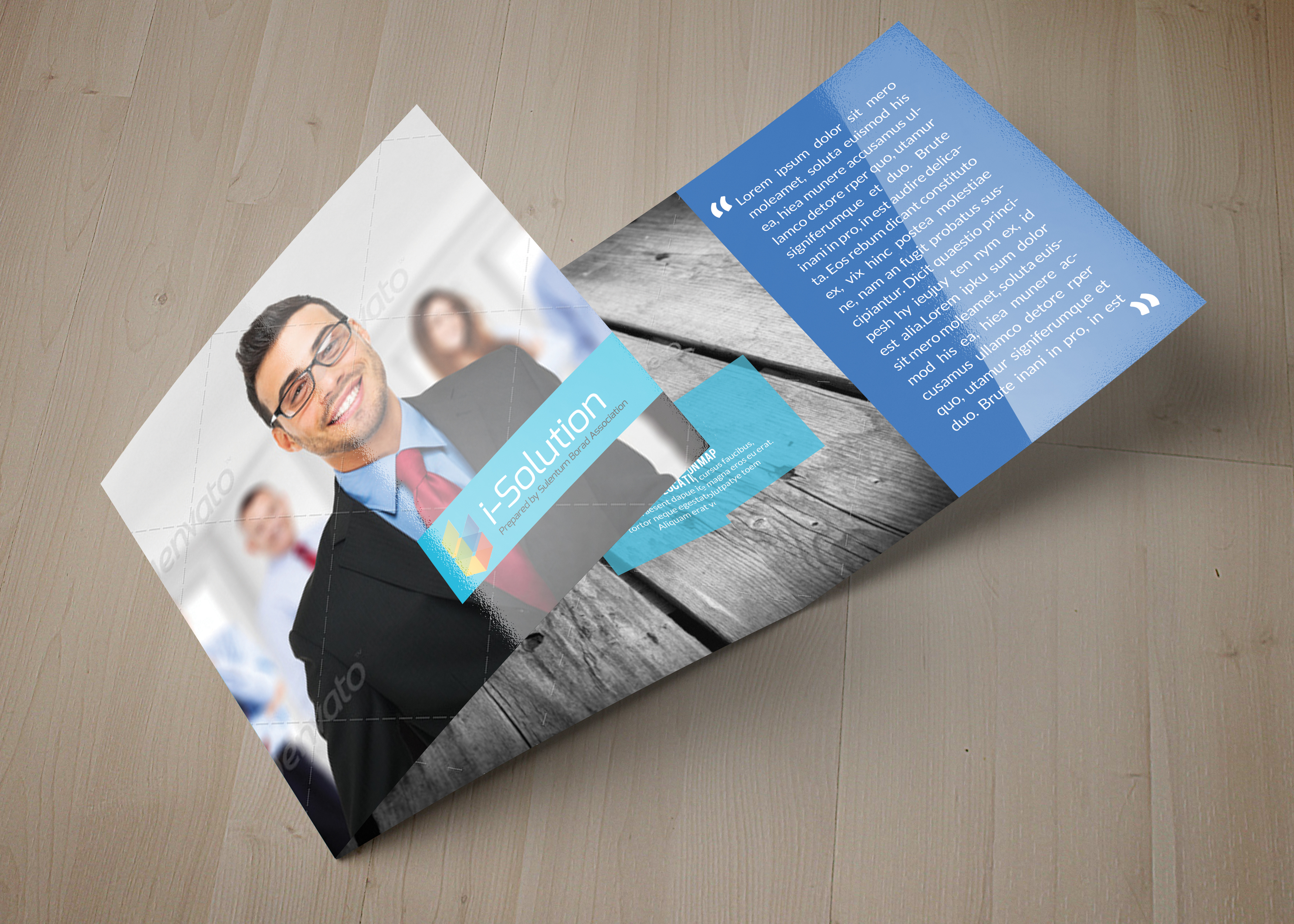Business Management Square Trifold Brochure example image 3