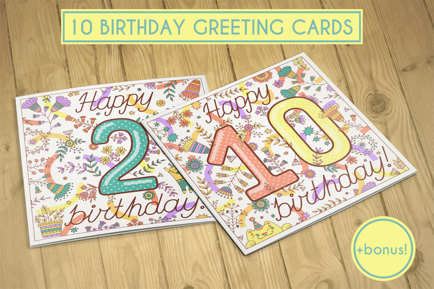 Birthday greeting cards collection example image 1