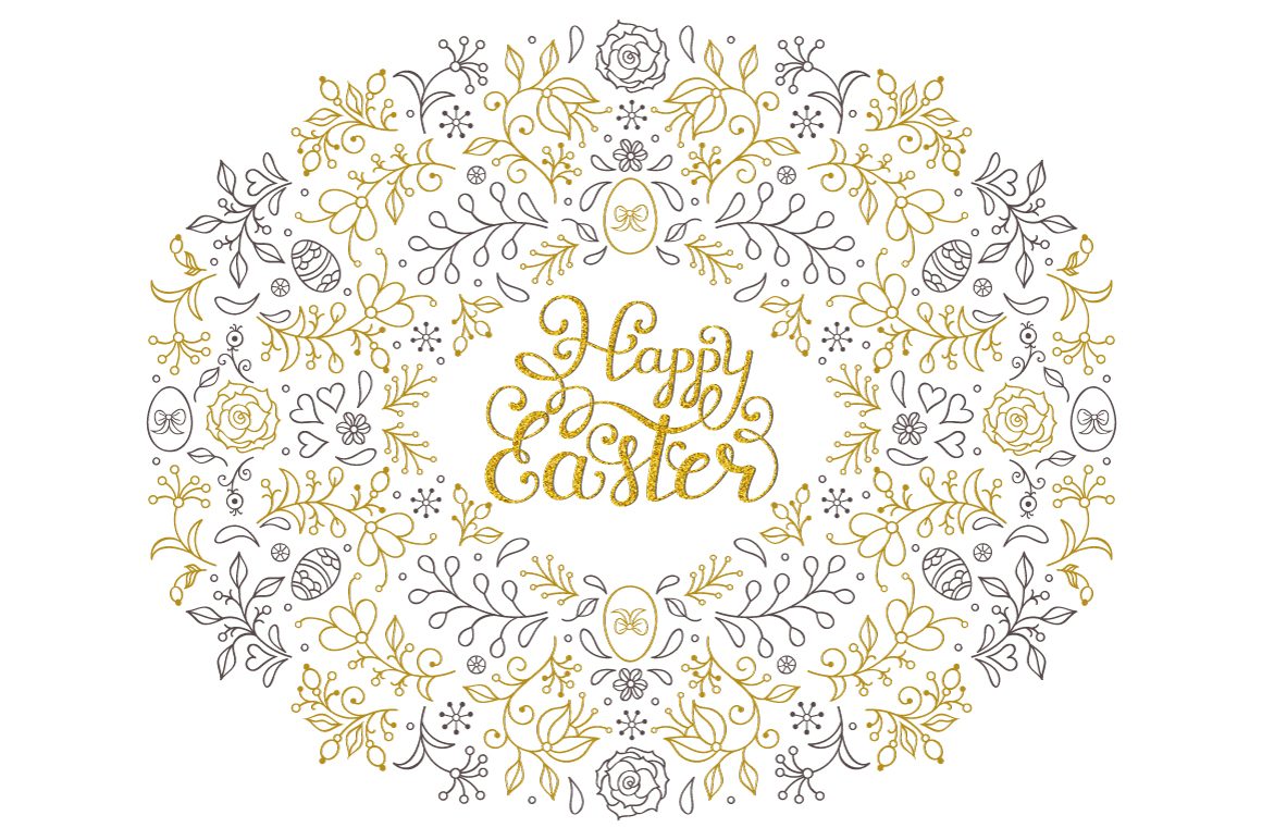 Easter.Patterns and cards. example image 3