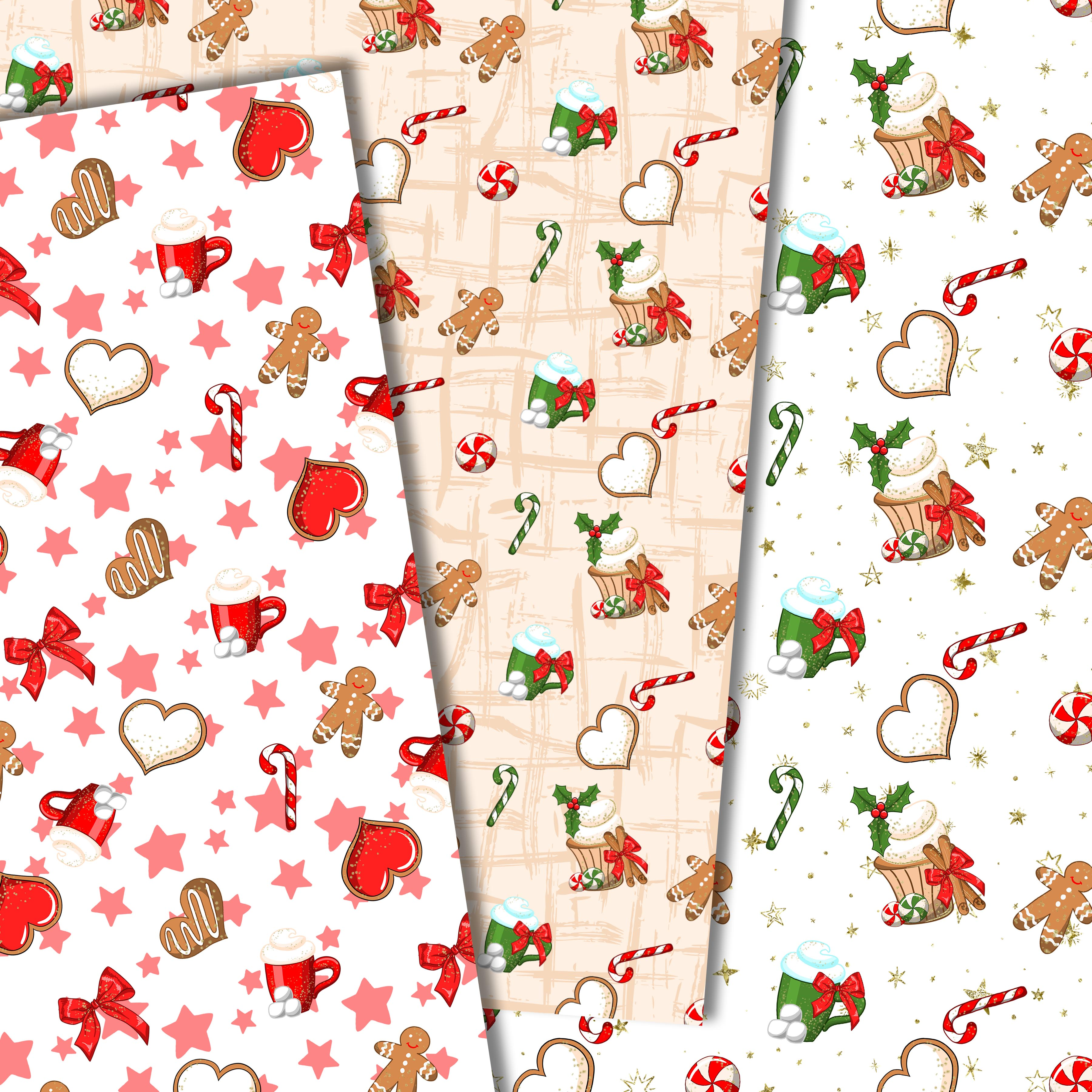 Christmas sweets patterns example image 4