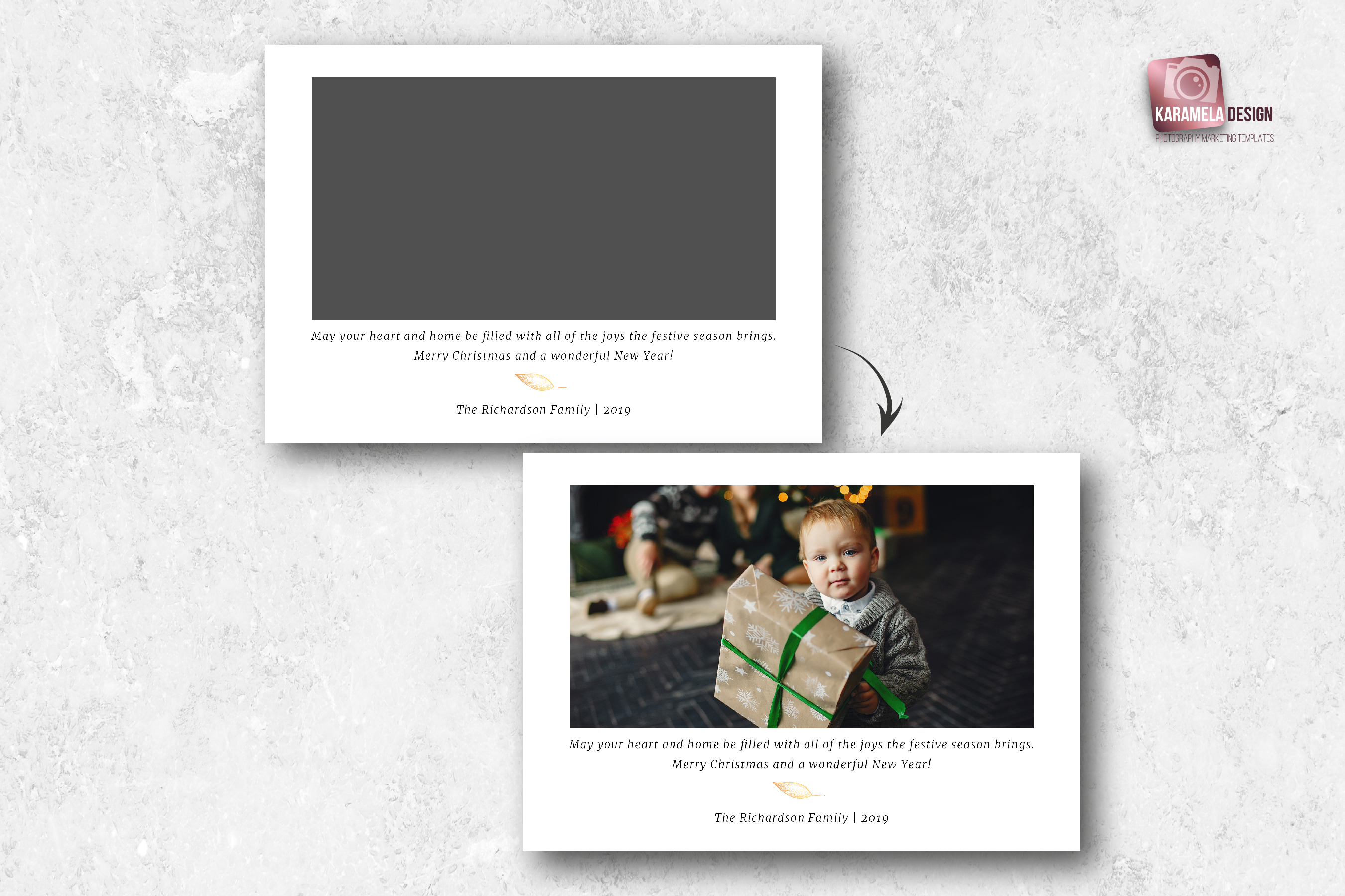 Christmas Card Template example image 3
