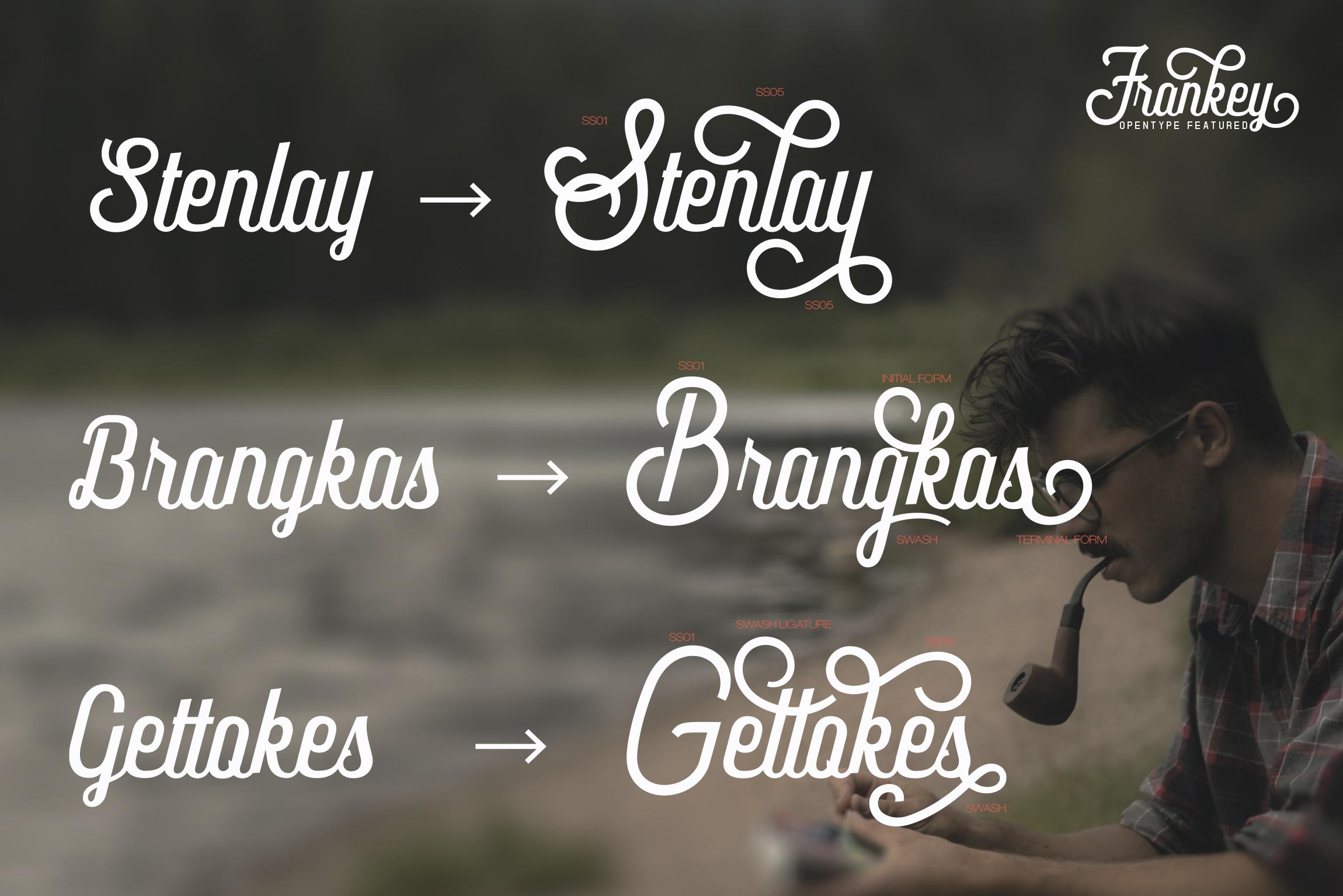 Frankey Vintage Font example image 5