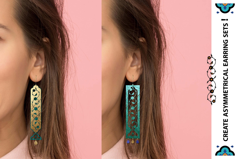 Eastern style acrylic leather wood jewelry kit 01 example image 2