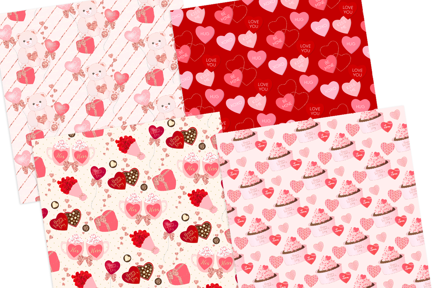 Valentine's Day Seamless Pattern Digital Papers example image 3