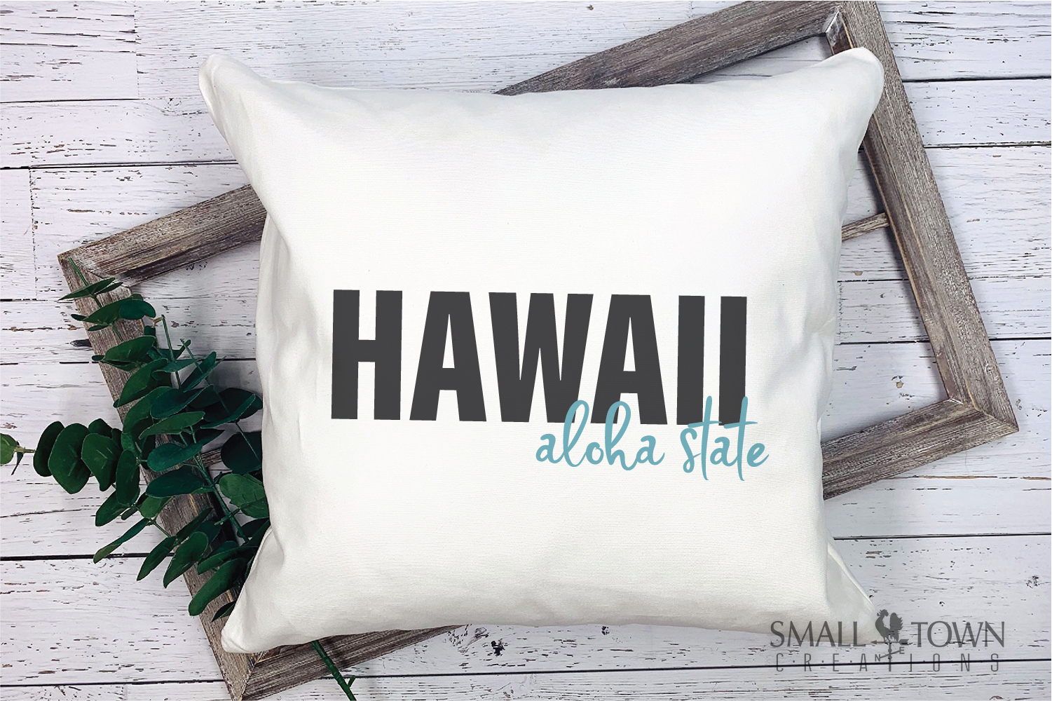 Hawaii, Aloha State - slogan, Logo, PRINT, CUT & DESIGN example image 7