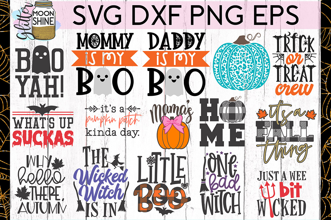 Huge Halloween Bundle of 50 SVG DXF PNG EPS Cutting Files example image 4