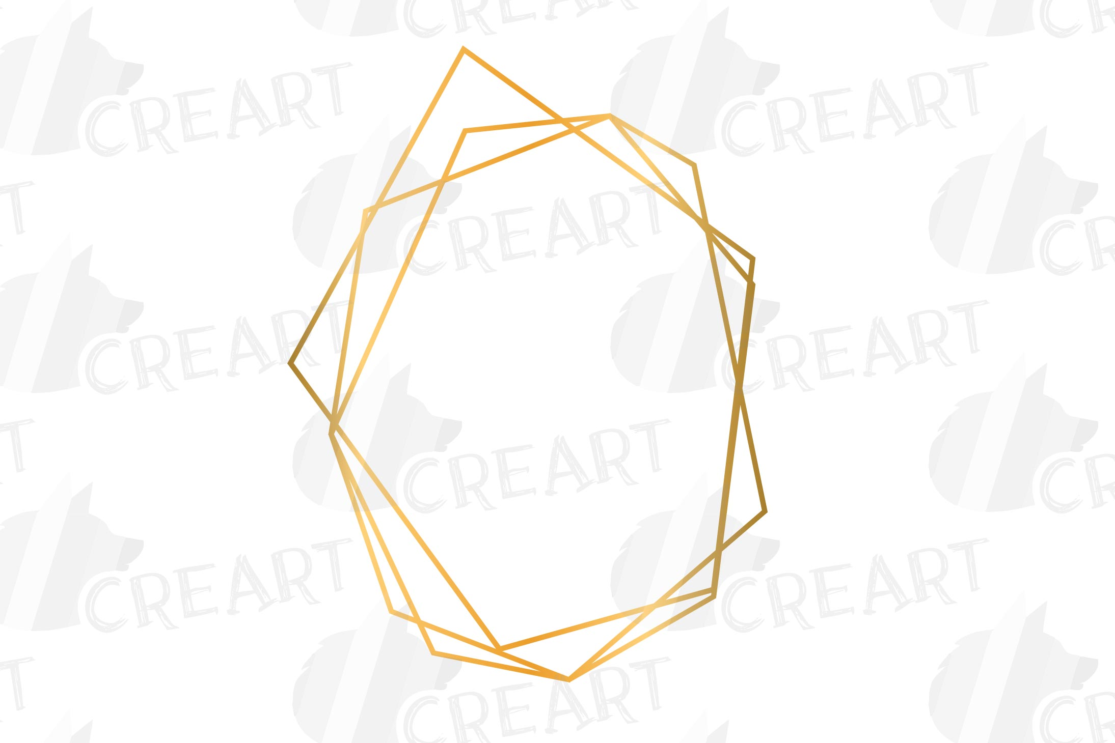 Golden geometric frames clip art. Wedding invite geo borders example image 9