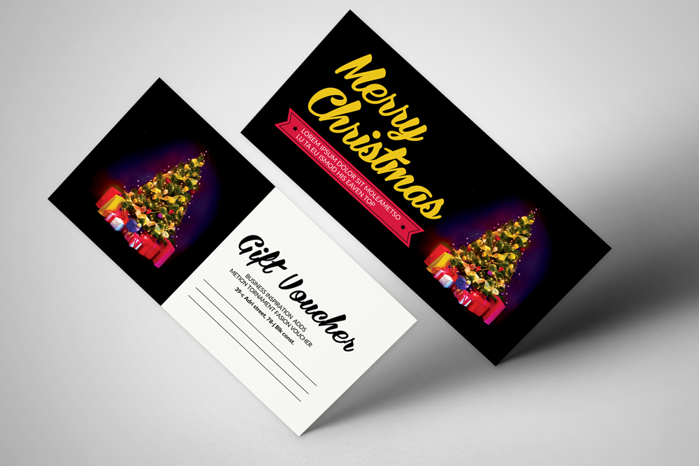 Merry Christmas Gift Voucher example image 1