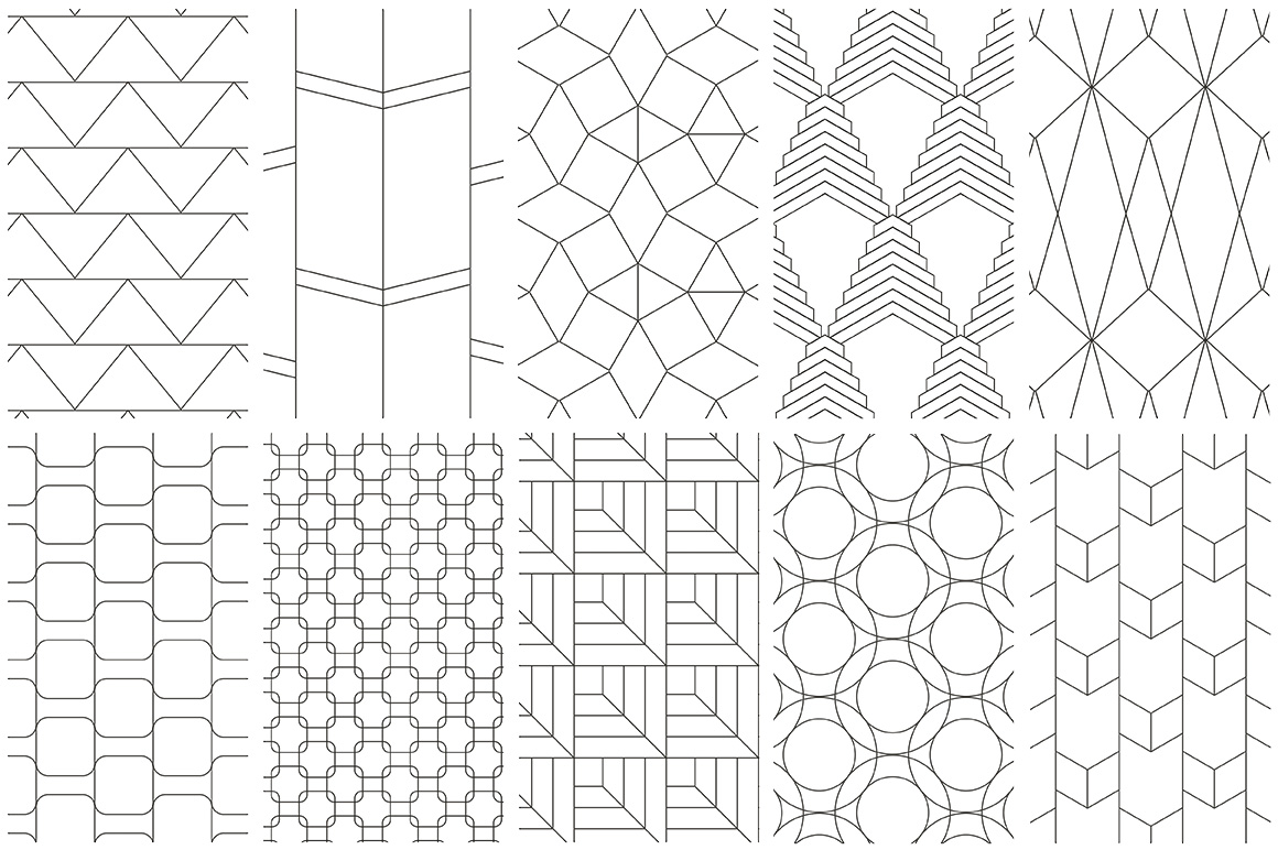 Simple Line Geometric Patterns example image 5