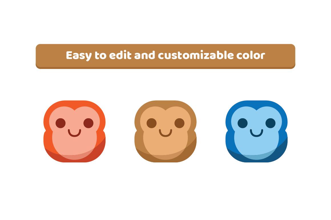 Cute Monkey Emojis example image 2