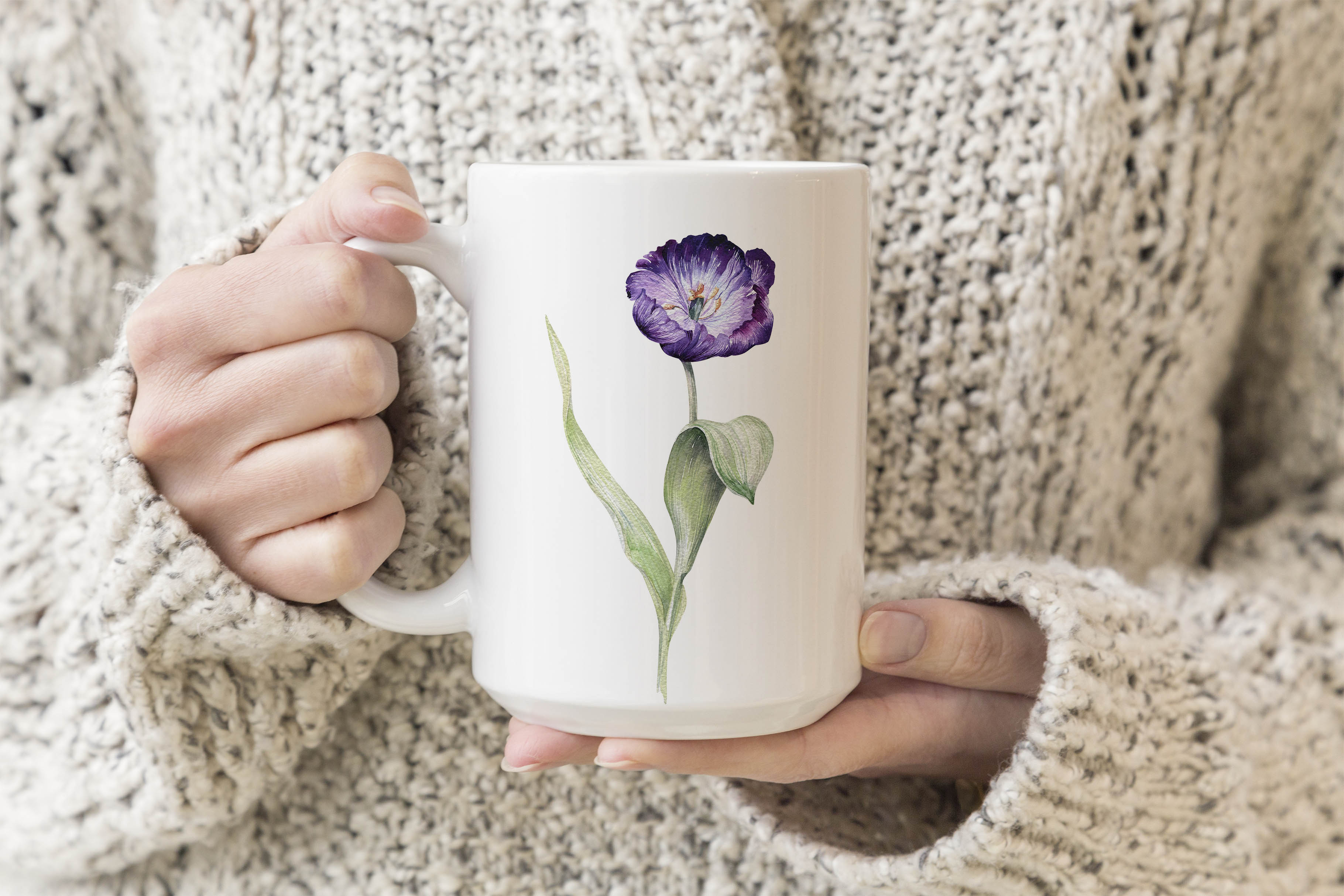 15oz Mug Mockup- Woman holding mug example image 3