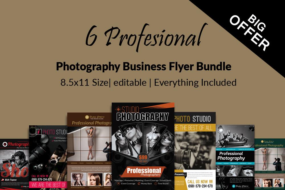 6 Photography Business Flyers Bundle example image 1