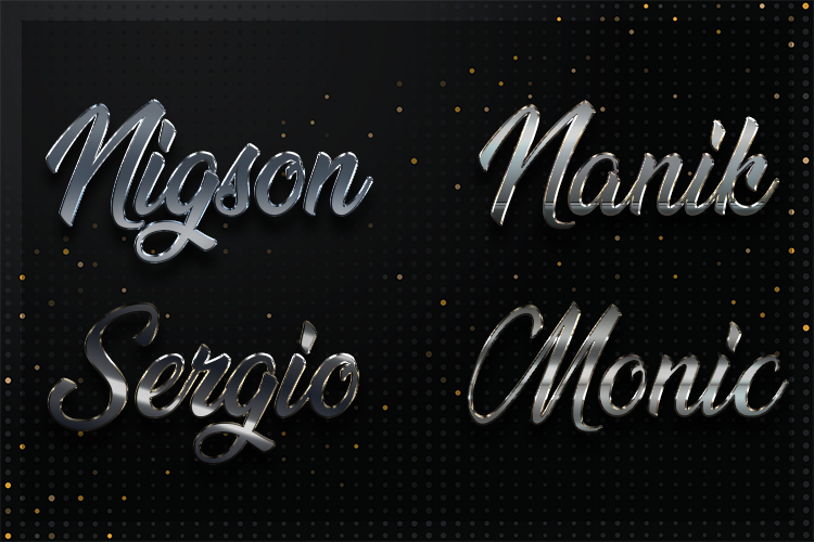 12 Silver Chrome Text Effect Styles example image 3