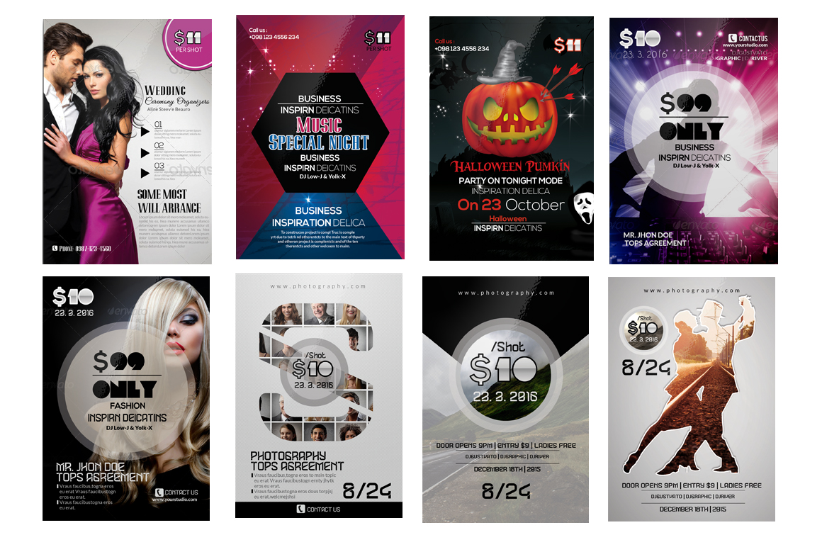 100 Party Flyers Bundle example image 5