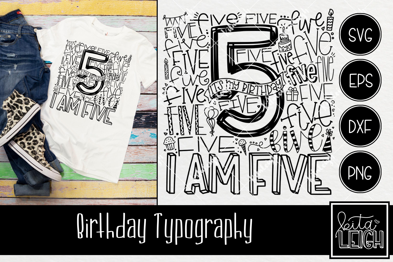 Birthday Typography Bundle example image 6