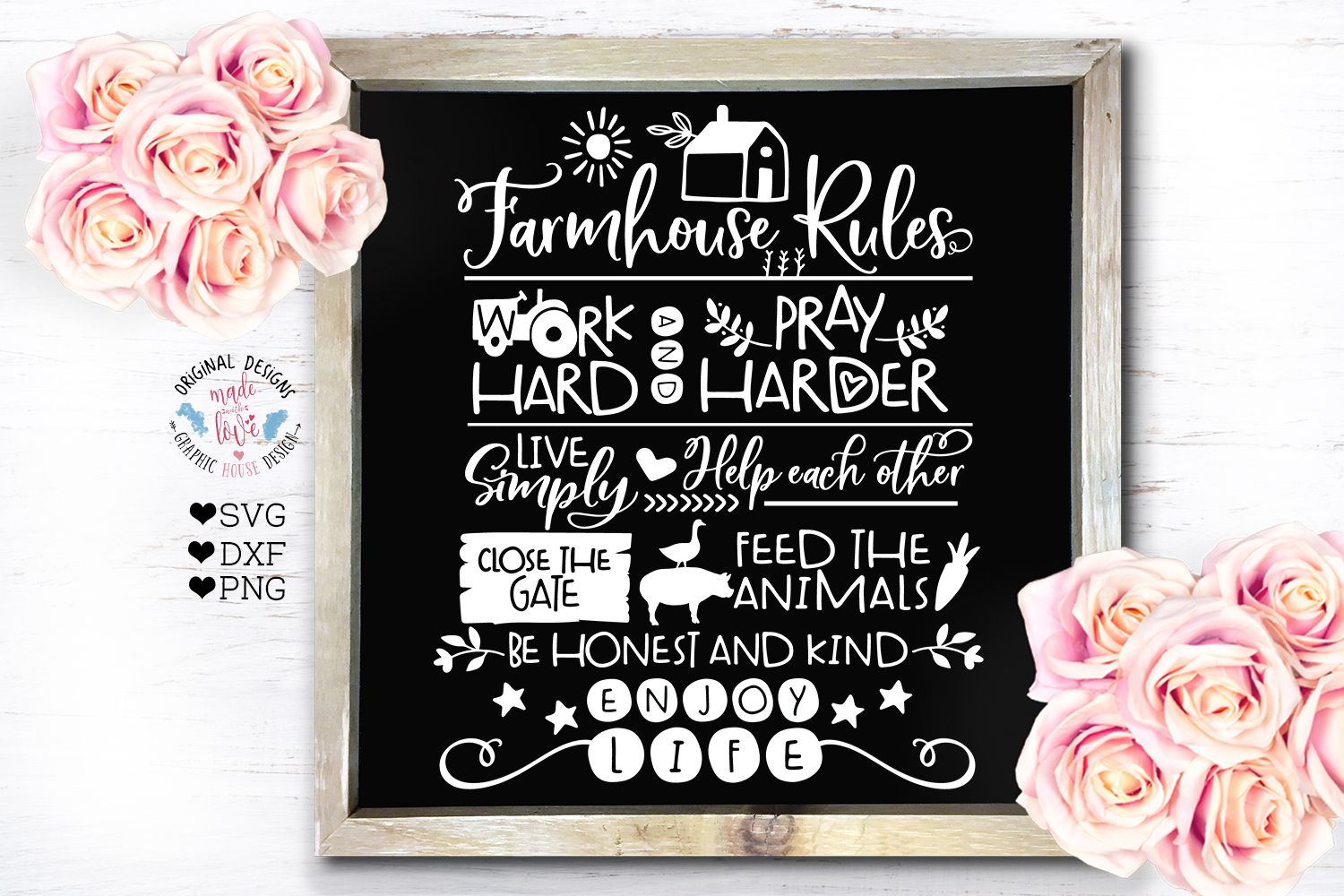 Home and Summer Decor Rules Cut File Bundle example image 5