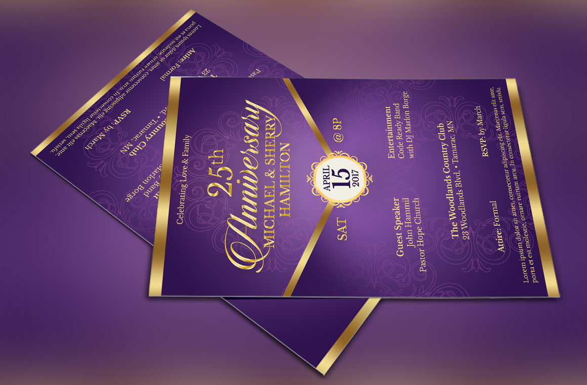 Wedding Anniversary Gala Flyer Template example image 4